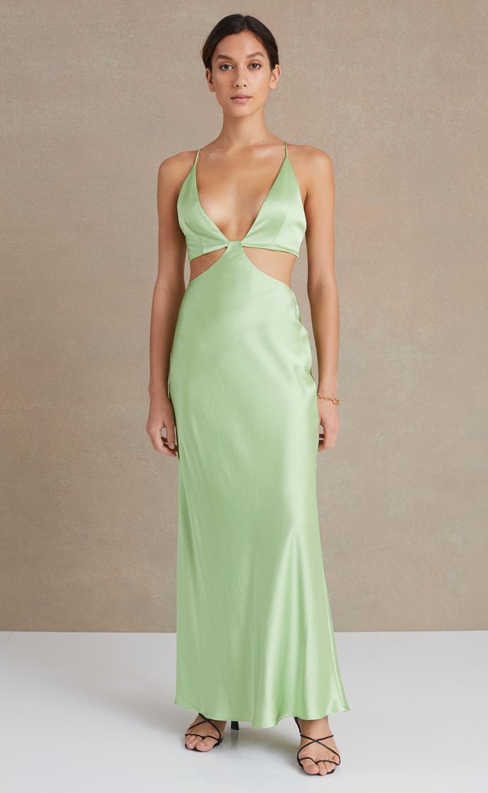 "Ciao Bella Maxi Dress, $350 from [Bec and Bridge](https://www.becandbridge.com.au/products/w21b-10723-apple target=""_blank"" rel=""nofollow"")"