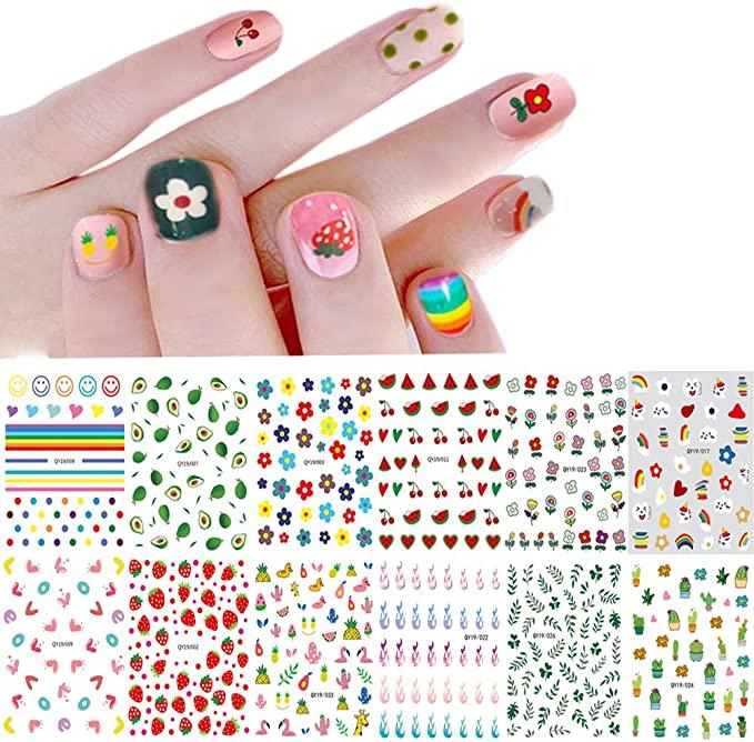 """Assorted Nail Stickers, $17.22 from [Amazon](https://www.amazon.com.au/Nail-Stickers-Women-Little-Girls/dp/B082X9HD4K/ref=sr_1_9?_encoding=UTF8&c=ts&dchild=1&keywords=Nail+Stickers+%26+Decals&qid=1629980664&s=beauty&sr=1-9&ts_id=5150535051 target=""""_blank"""" rel=""""nofollow"""") <br><br> The ultimate indecisive starter pack, this collection of stickers has a little bit of everything from smiley faces to flowers (and even avocados). It's the perfect way to ease yourself into the decal game and give everything a whirl before choosing a favourite."""