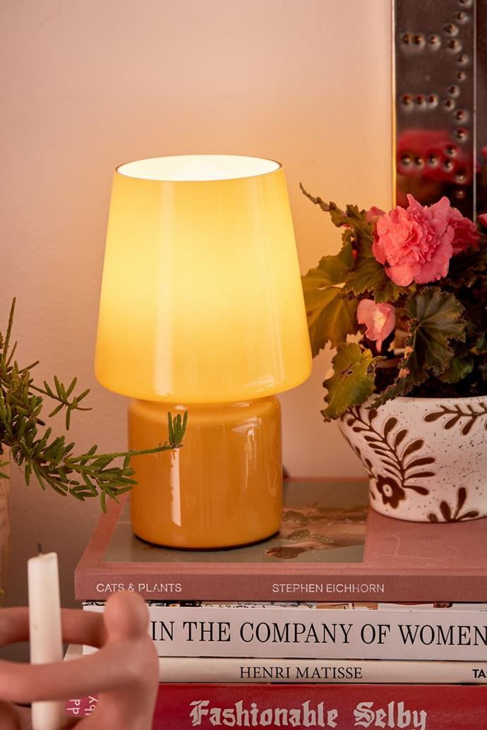 """Little Glass Table Lamp, $62 from [Urban Outfitters](https://au.urbanoutfitters.com/en-au/product/little-glass-table-lamp/UO-50161678-000