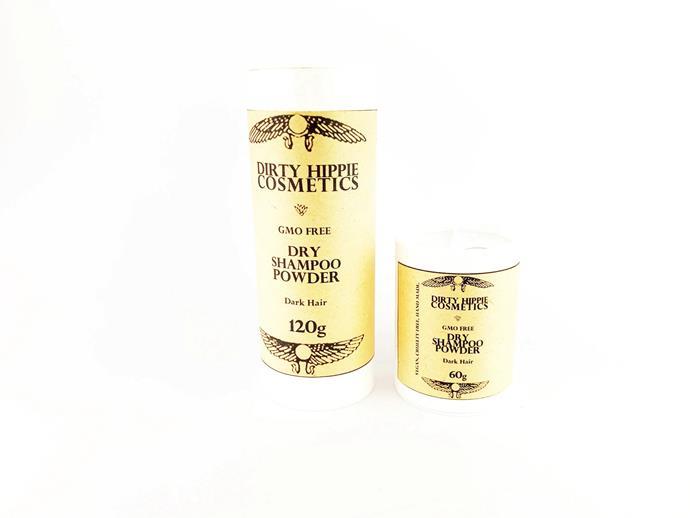 "Dirty Hippie Cosmetics Dry Shampoo Powder, $15.99 from [Dirty Hippie Cosmetics](https://dirtyhippiecosmetics.com.au/listing/242277503/gmo-free-dry-shampoo-cfc-free-light-dark|target=""_blank""|rel=""nofollow"")"