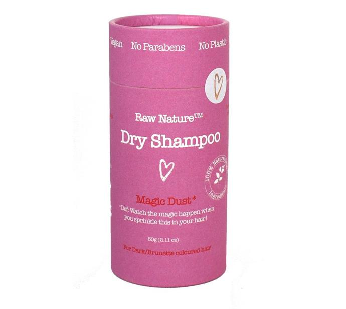"""Raw Nature Magic Dust Dry Shampoo, $23.95 from [Raw Nature](https://rawnaturenz.com/products/natural-dry-shampoo-magic-dust