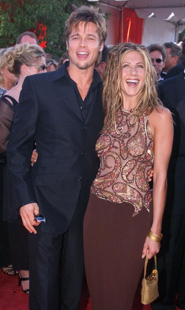 **Brad Pitt and Jennifer Aniston** <br><br> Okay, we're aware there is a lot of Brad Pitt at this point but let's be honest, he dated some incredible women throughout the 90s. Our favourite? Of course, none other than 90s icon Jen Aniston. Despite their failed marriage, couple still remain friends to this day and honestly, we're still holding out hope for a reunion.