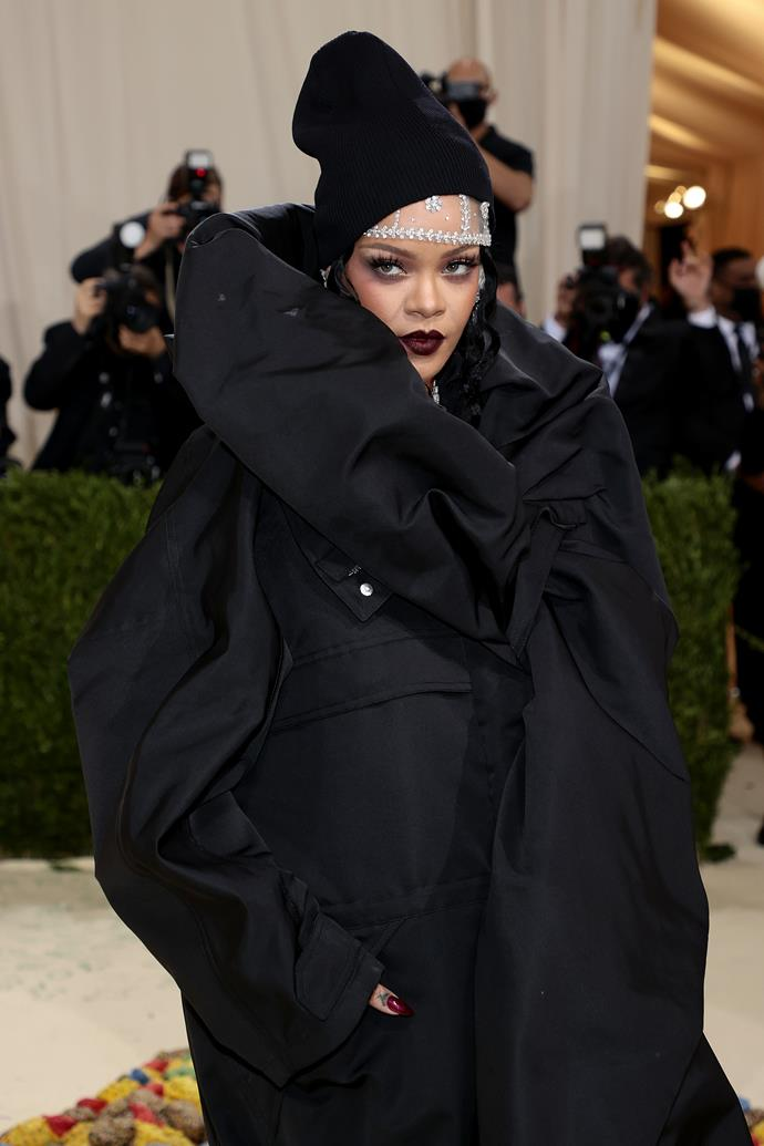 Queen Rhianna has spoken and we love what she has to say. Her over-the-top outfit was a focal point, but her dark-hued lip shade was everything.