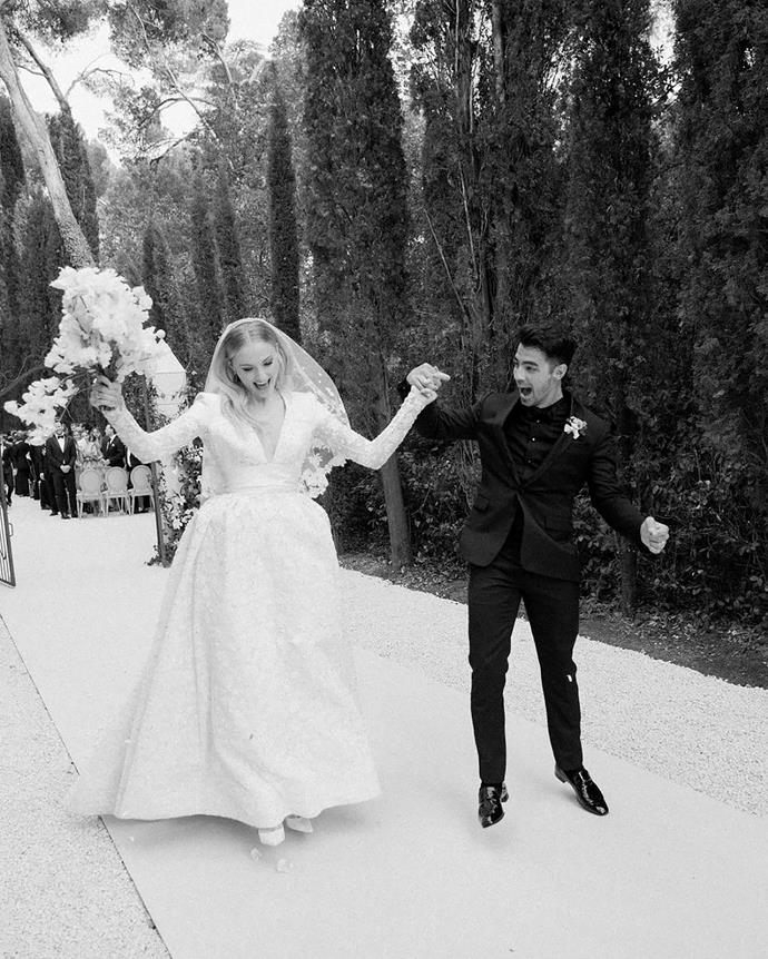**Sophie Turner in Louis Vuitton (2019)**<br><br> This joyous photo of the newlyweds surfaced on Instagram to celebrate their two-year anniversary, and it's safe to say it gave everyone the warm fuzzies.