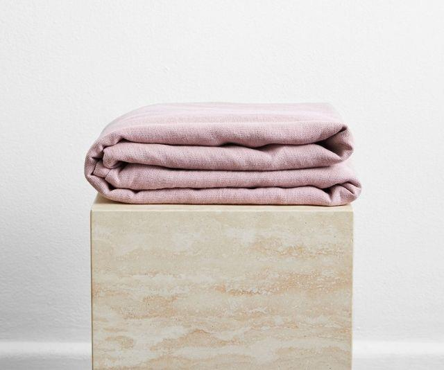 """100% French Flax Linen Throw, $180 from [Bed Threads](https://bedthreads.com.au/products/lavender-100-french-flax-linen-throw?variant=34883994583174 target=""""_blank"""")"""