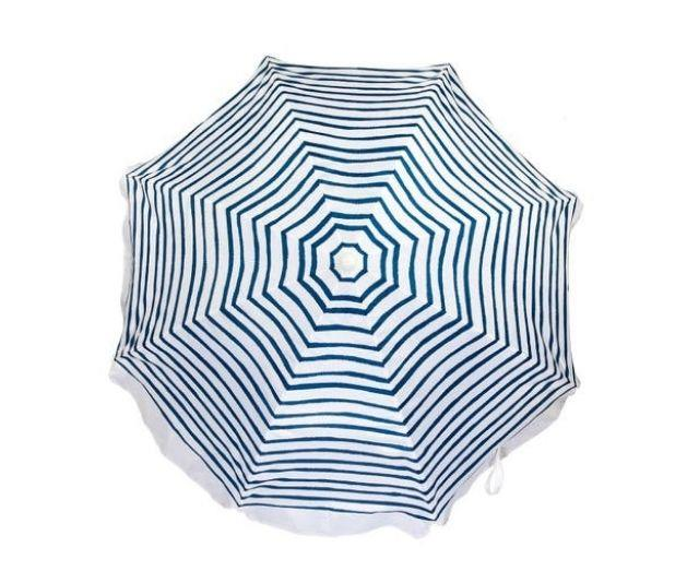 """**The European-Style Beach Umbrella**<br><br>  Conjuring days spent at La Fontelina Beach Club in Capri (trust us, you've seen it [on Instagram](https://www.instagram.com/p/CFMmkXGhRhH/