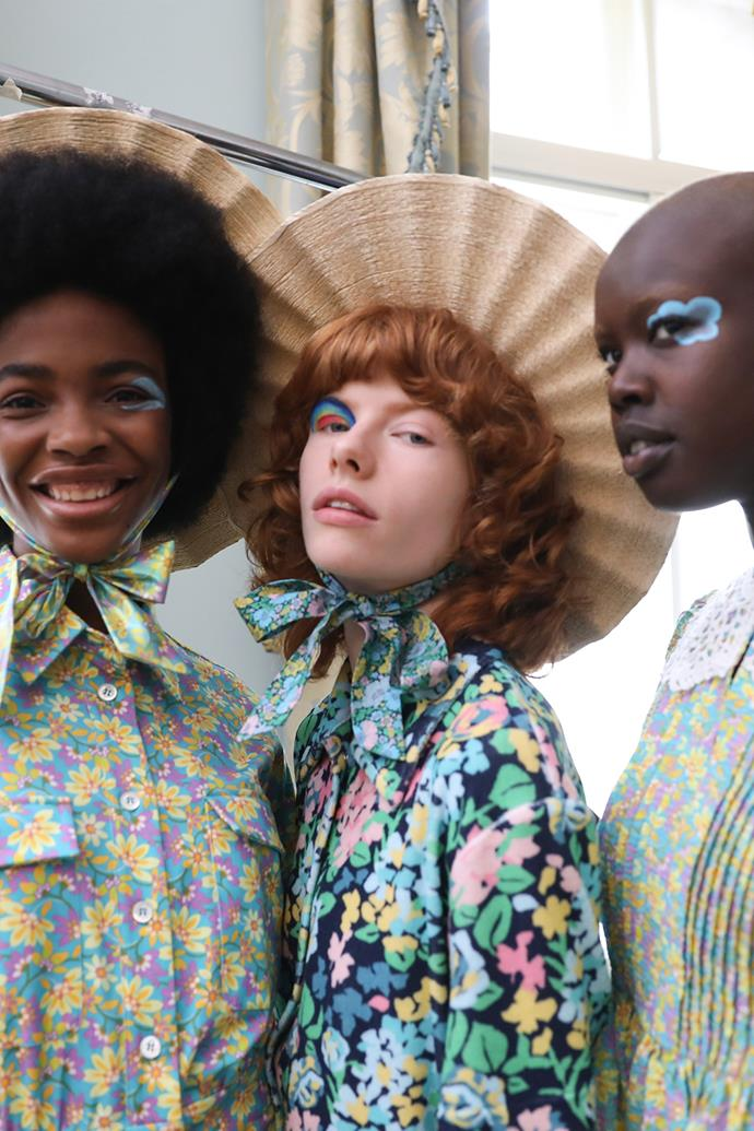 **Carnival Colours** <br><br> Thanks to Paul & Joe's spring/summer 2022 show, we're feeling like kids again. From flowers and rainbows to fluffy clouds, each models' eye lids, were decorated in nostalgic shapes and scenery to emulate the face painting that children obsess over at carnivals. As for the rest of the looks, makeup artist Georgina Graham kept their complexions fresh and seemingly foundation free, much like that of carefree kids. And quite frankly, we're on board. <br><br> *Image: Paul & Joe spring/summer 2022.*