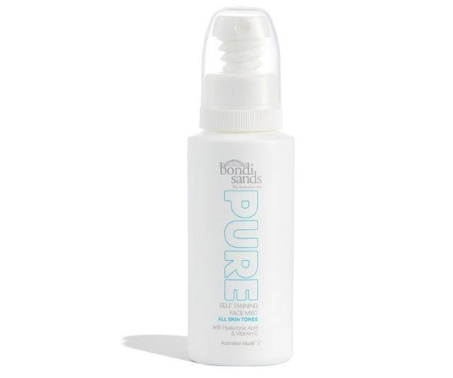 """**Pure Self Tanning Face Mist, $22.95 from [Bondi Sands](https://bondisands.com.au/products/pure-self-tanning-face-mist