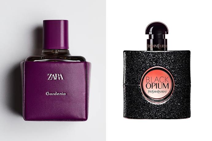 """**Zara Gardenia EDP and YSL Black Opium** <br><br> An intoxicating amber floral fragrance that's perfect for Autumn, Zara's Gardenia scent is often compared to Yves Saint Laurent's Black Opium for its notes of white flowers, vanilla and jasmine. <br><br> *Shop the perfume [here](https://www.zara.com/au/en/zara-gardenia-100-ml---3-38%C2%A0oz-p20120056.html