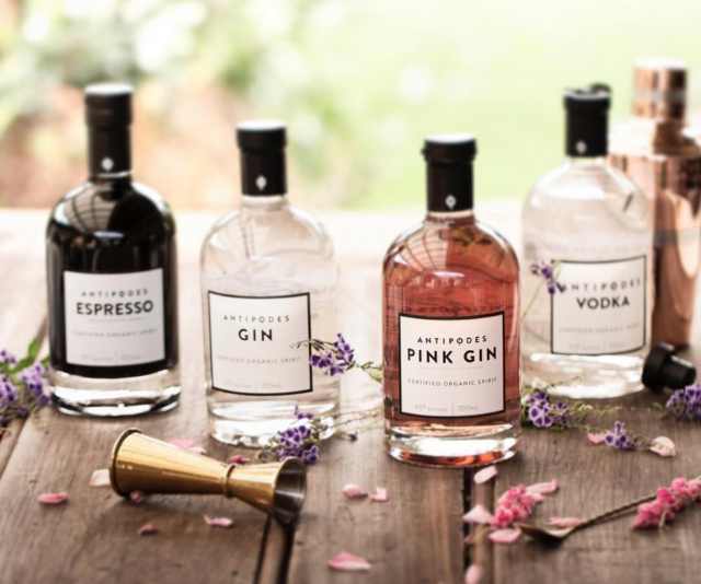 """**Antipodes Gin Co**<br><br> Distilled with 100% renewable electricity in their Canberra distillery, the brand has created Australia's first certified organic and carbon neutral gin. They also make vodka and coffee liqueur for the most eco-friendly espresso martini you could hope for. <br><br> **Shop from [Antipodes Gin Co](https://antipodesgin.com/shop/ target=""""_blank"""") and [BWS](https://bws.com.au/product/687241/the-antipodes-gin-co-organic-gin-700ml target=""""_blank"""")**"""