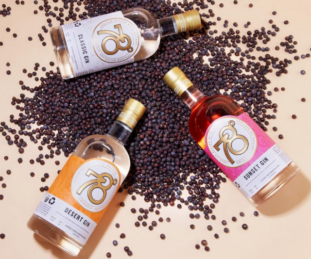 """**Adelaide Hills Distillery/78 Degrees** <br><br>  Mindfully gathered Australian botanicals and sustainable production are at the heart of the brand's mantra: """"Crafted for Better"""". Plus, a portion of the profits from every bottle sold go directly back to the local community and charities. <br><br>  **Shop from [Adelaide Hills Distillery](https://78degrees.com.au/ target=""""_blank"""") and [Dan Murphy's](https://www.danmurphys.com.au/search?searchTerm=Adelaide+Hills+Distillery target=""""_blank"""")**"""