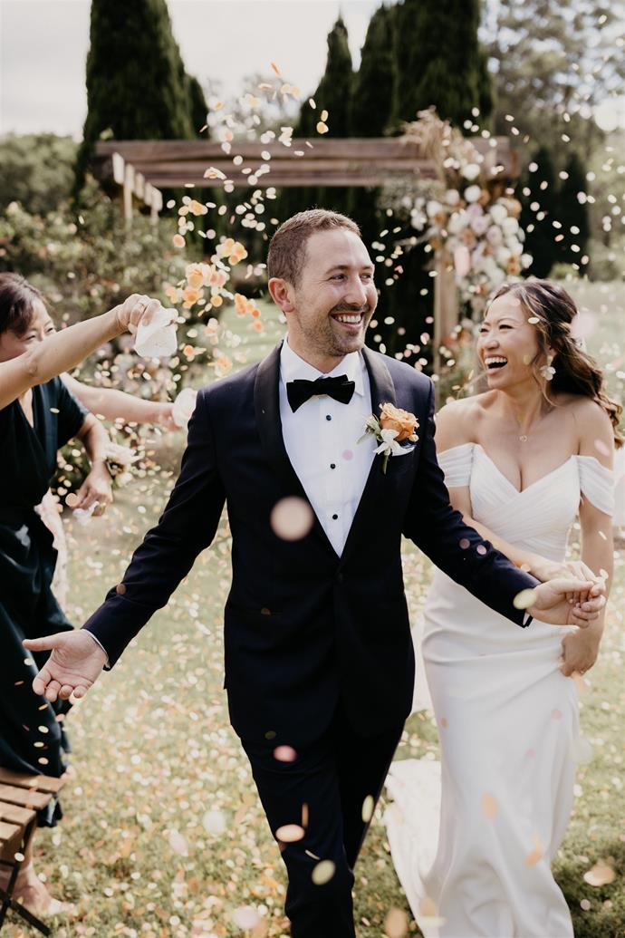 """""""Walking down the aisle, seeing Scott… I have only seen him cry once before and he was wiping away tears. I am usually the crier [laughs].""""  [Photography: Hungry Hearts Co](https://hungryheartsco.com/