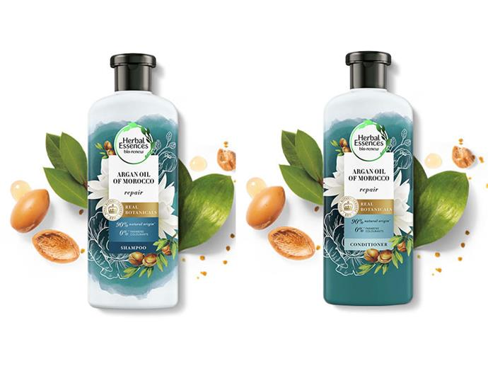 """**BEST ARGAN OIL SHAMPOO AND CONDITIONER**<br><br>  One of the best argan oil shampoo and conditioner duos in Australia, Herbal Essences' Argan Oil of Morocco promises to revive dull hair, and even reverse some of the damage inflicted on our locks. While the shampoo deeply hydrates and nourishes, the conditioner restores hair to its smooth texture, leaving it soft and supple.  This argan oil product is also free from parabens, colourants and paraffin and because they are pH-balanced, they're also safe enough to use on colour-treated hair.<br><br>  *Argan Oil of Morocco [Shampoo](https://herbalessences.com.au/en-au/products/argan-oil/argan-oil-shampoo/