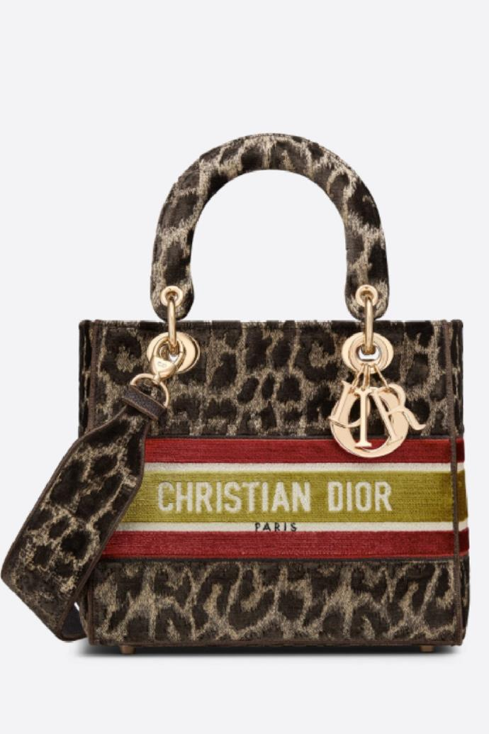 "**Medium Lady D-lite Bag**, $7,300 at [Dior](https://www.dior.com/en_au/products/couture-M0565OTGT_M918-medium-lady-d-lite-bag-beige-multicolor-mizza-embroidered-velvet|target=""_blank""|rel=""nofollow"")"