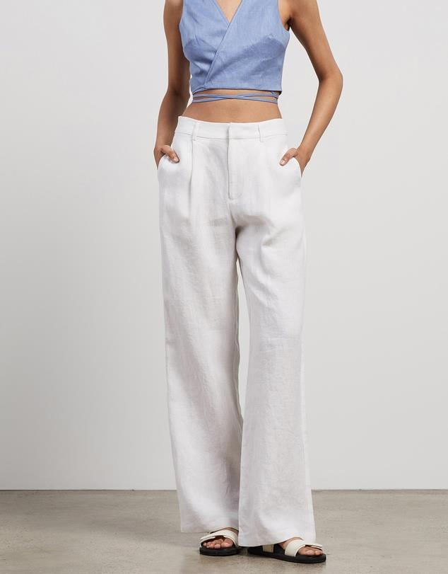 """Straight Leg Pants, $120; at [THE ICONIC](https://www.theiconic.com.au/straight-leg-pants-1139514.html