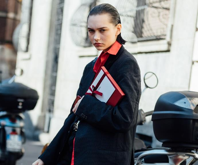 """**Sofia Steinberg** <br><br> Russian model Sofia Steinberg's distinct androgynous beauty has become highly sought after. <br><br> This season, Sofia appeared at almost every show at Paris and Milan including the iconic Fendace, Saint Laurent and closing Dior's casino themed presentation.  <br><br> Her iconic grimace has become the new face of high fashion. <br><br> *Follow Sofia on Instagram at [@st.einberg](https://www.instagram.com/st.einberg/ target=""""_blank"""" rel=""""nofollow"""")*"""