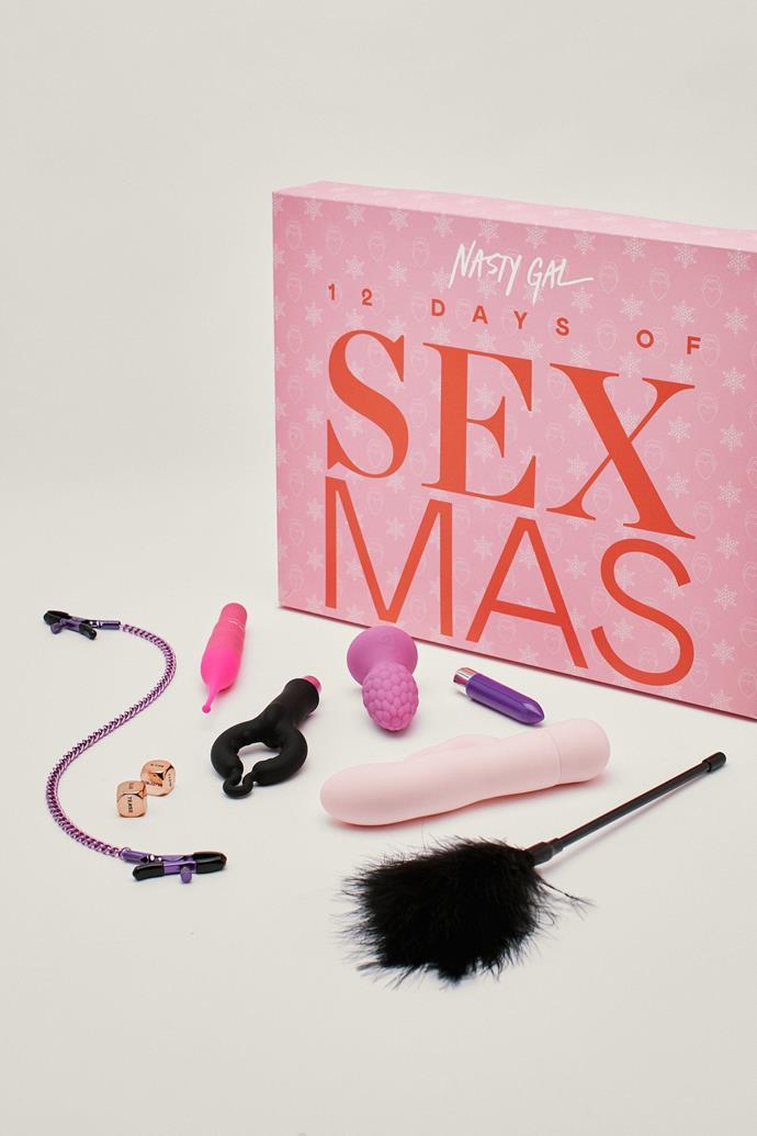 "Twelve Days Of Sexmas Sex Toy Advent Calendar, $233.55<br><br> *Shop [here](https://www.nastygal.com/au/twelve-days-of-sexmas-sex-toy-advent-calendar/AGG08484.html|target=""_blank""|rel=""nofollow"").*"