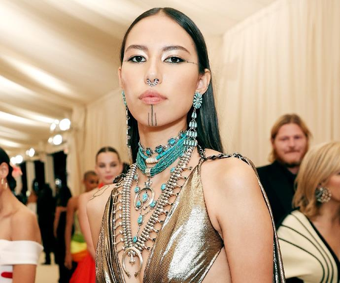 """**Quannah Chasinghorse** <br><br> Quannah is the voice of a generation. <br><br> Not only is Quannah a model, she's also a climate warrior and land protector who promotes the voices of Indigenous communities.  <br><br> Her ascent as a top model heralds a rise of First Nations representation and although her modelling career has caused her following to skyrocket, her mission as an activist remains the same. <br><br> *Follow Quannah on Instagram [@quannah.rose](https://www.instagram.com/quannah.rose/ target=""""_blank"""" rel=""""nofollow"""")*"""
