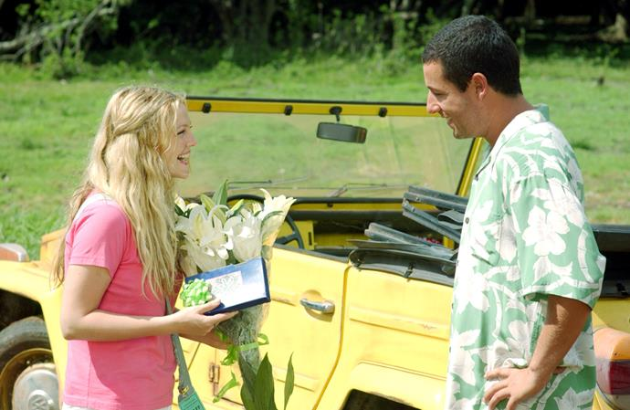 ***50 First Dates:*** Henry (Adam Sandler) falls in love with Lucy (Drew Barrymore) from the first moment he lays eyes on her. The only problem is, she has a rare condition where she loses her memory every 24 hours. How is he going to win her over when she has no idea who he is?