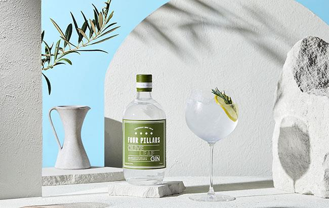 """**[*Four Pillars Olive Leaf Gin*](https://www.fourpillarsgin.com/products/four-pillars-olive-leaf-gin target=""""_blank"""" rel=""""nofollow"""")**  <br><br>  Four Pillars is one of the most well-known names in the Australian gin game — and for good reason. From the iconic Bloody Shiraz gin to the classic olive leaf, the brand is constantly pushing the boundaries of gin-development. Oh, and if you haven't had the pleasure of tasting their Australian Christmas Gin, 2021 has to be the year that you do.  <br><br>  **Shop at:** [Dan Murphy's](https://www.danmurphys.com.au/product/DM_101476/four-pillars-olive-leaf-gin-700ml target=""""_blank"""" rel=""""nofollow"""")"""