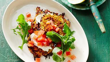 Kumara & zucchini fritters