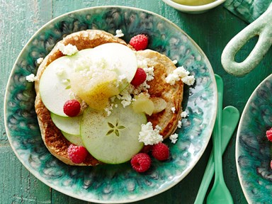Apple berry pancakes with ricotta
