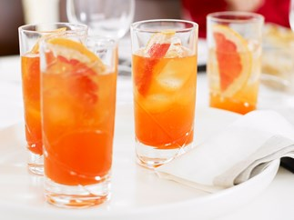 Aperol and Grapefruit Cocktails