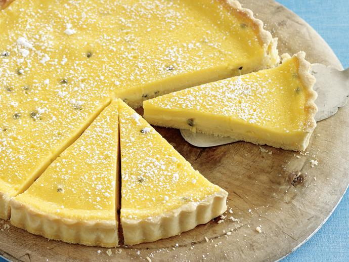 """**[Passionfruit tart](https://www.womensweeklyfood.com.au/recipes/passionfruit-tart-21978