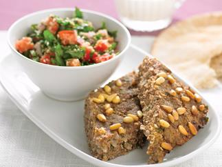 Baked Kibbeh with Tabouli