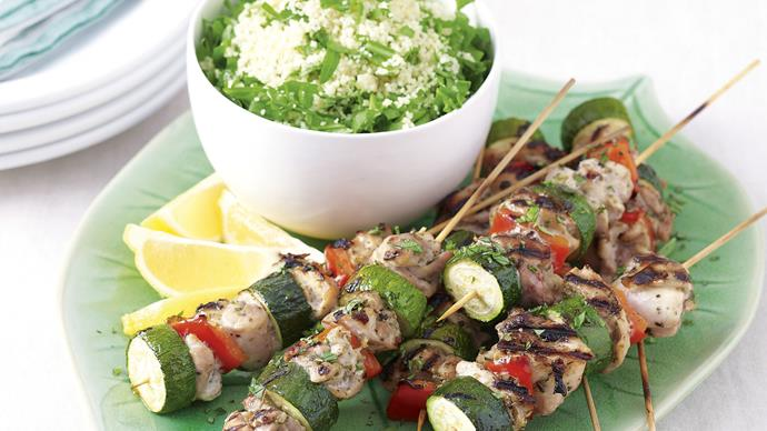 Chicken Skewers with Lemon Couscous