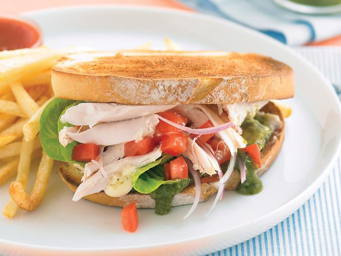 """**[Chicken toasties](https://www.womensweeklyfood.com.au/recipes/chicken-toasties-22066