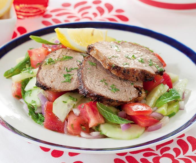 Lamb Salad with Mint Dressing