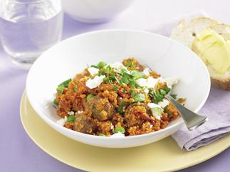 Sausage, Pea and Fetta Couscous