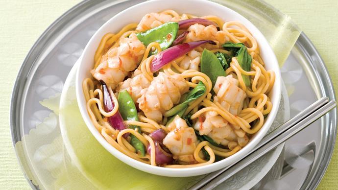 Sweet chilli calamari stir-fry