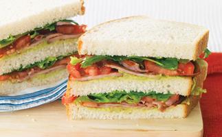 BLT and Guacamole Sandwiches