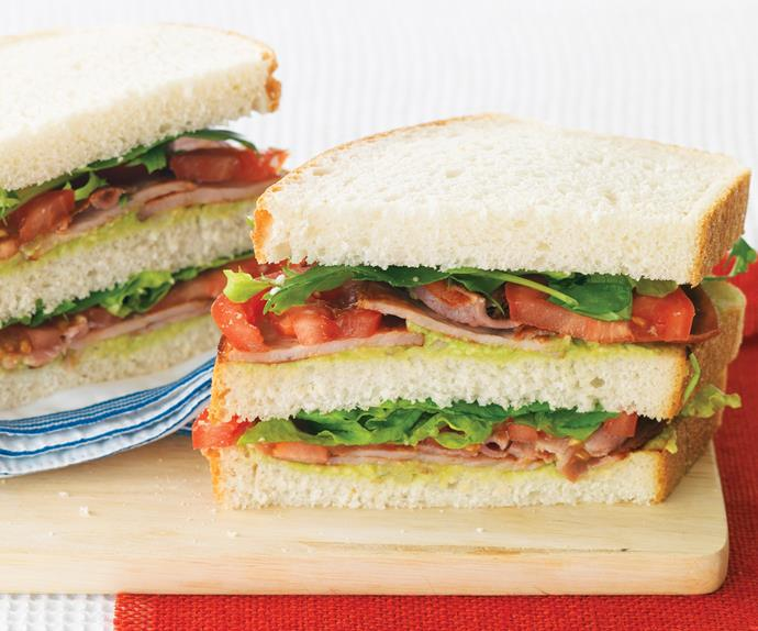 BLT and Guacamole Sandwiches