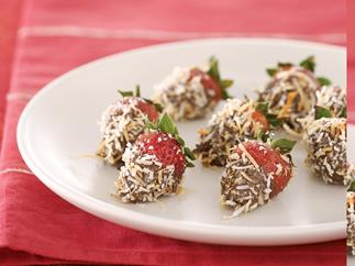 Choc Coconut Strawberries