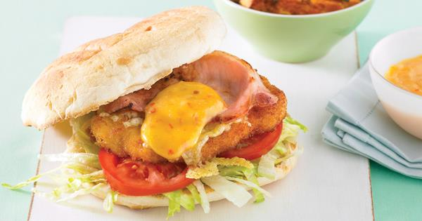Chicken Schnitzel Burgers With Sweet Chilli Mayo Recipe Food To Love