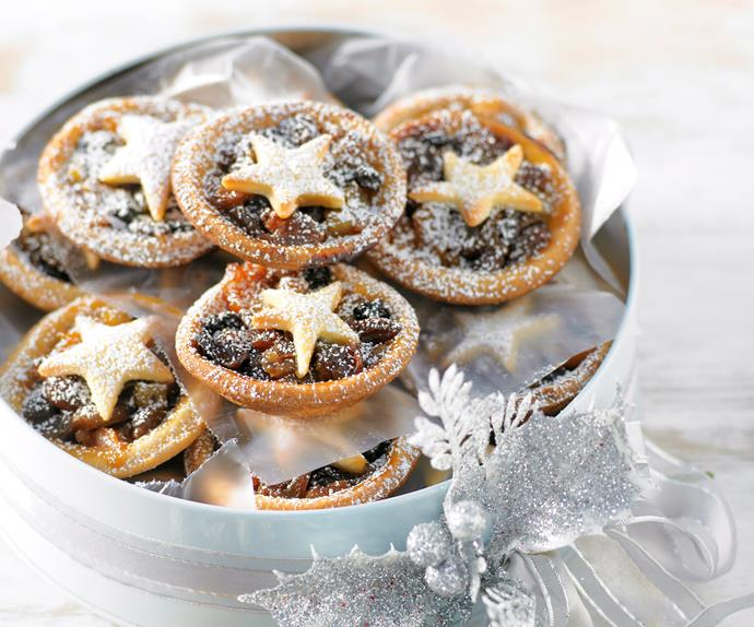 Peach and Fruit Mince Tarts