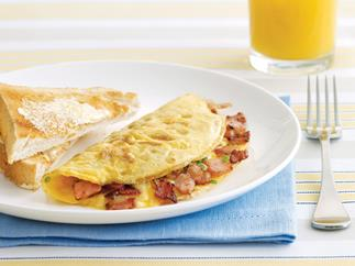 Bacon and cheese omelette