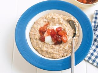 Porridge with Strawberry Compote