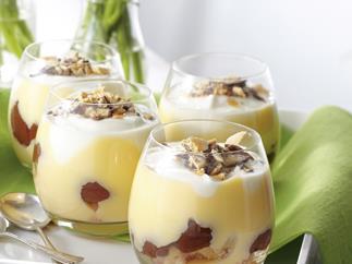 Plum Yogurt Trifle