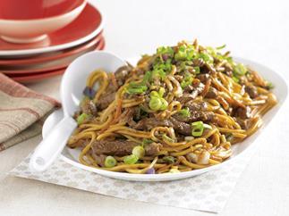 Beef and Black Bean Stir-fried Noodles