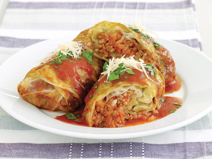 "**[Cabbage rolls](https://www.womensweeklyfood.com.au/recipes/cabbage-rolls-21823|target=""_blank"")** show up in one form or another in so many world cuisines. This classic version from recipes+ is a definite winner; tender cabbage, tasty mince and a rich tomato sauce."
