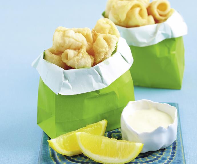 Calamari with Lemon Mayonnaise