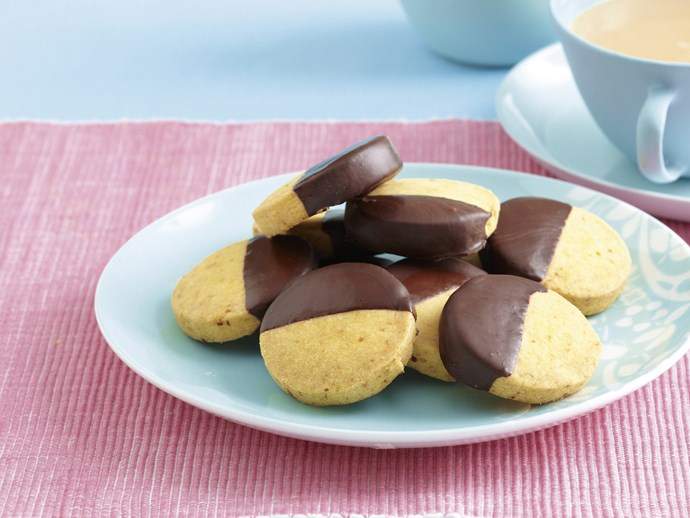 Choc Orange Shortbread Biscuits