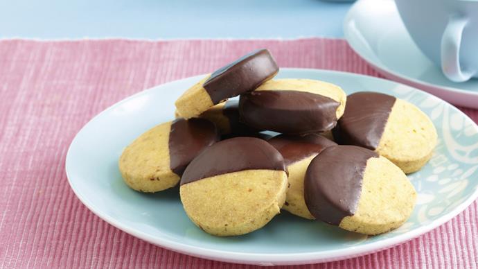 Choc Orange Shortbread Biscuits