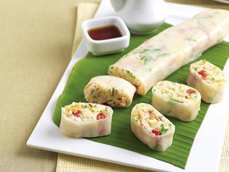 Wasabi Chicken Rice Rolls