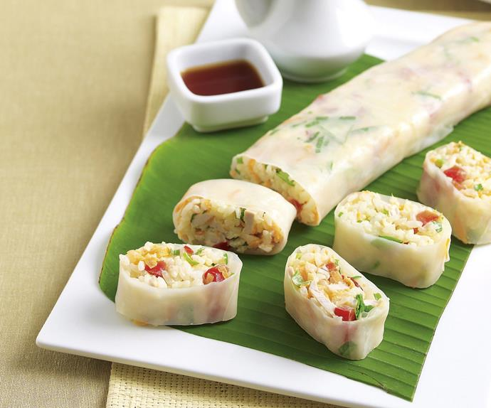 Wasabi Chicken Rice Rolls