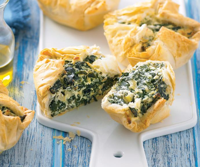 Silverbeet and Cheese Pies